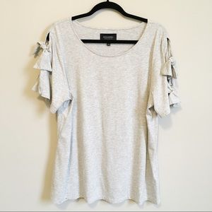 Banana republic grey T-shirt with tied sleeves XL